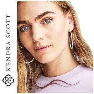 BRAND NEW Kendra Scott Val hoop earrings lilac